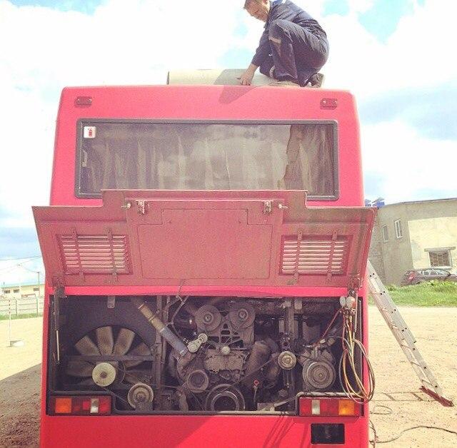 Ремонт кондиционера на автобусе
