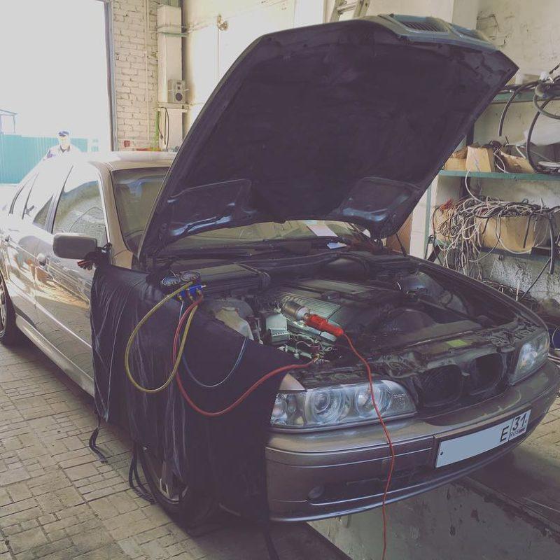 ремонт кондиционера автомобиля БМВ белгород заправка дозаправка