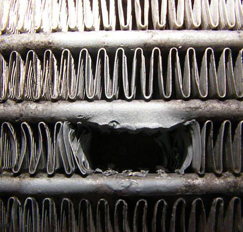 ремонт радиатора конденсора белгород димет напыление