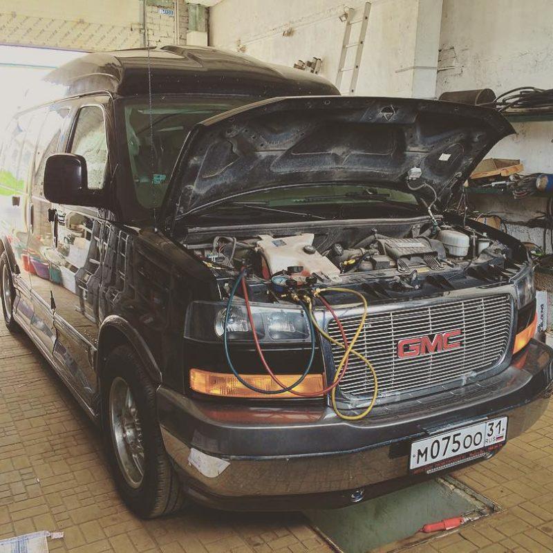 ремонт второго контура на автокондиционере GMC